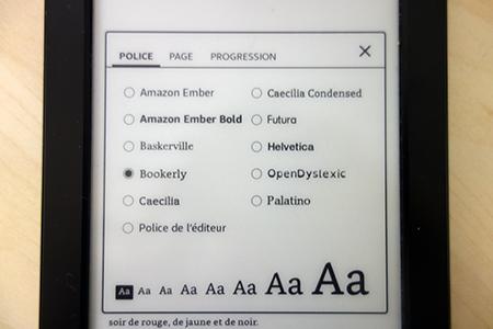 Fonctionnalités Kindle