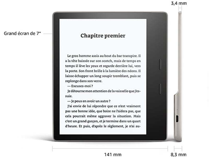Taille Kindle Oasis